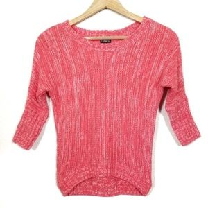 EXPRESS Coral Pink Dolman 3/4 Marled Sweater XS
